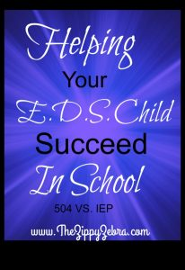 Hlpeing Your EDS Child Succeed In School A 504 VS IEP