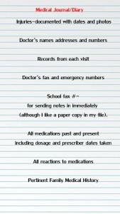 Keep a medical journal