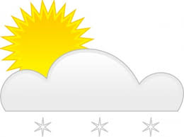 Sun and snow clip art