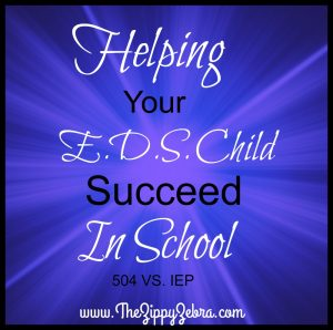 Zippy Help Your EDS Child Succeed in School IEP VS 504