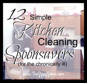 12 Simple Kitchen CLeaning Spponsavers for the Chronically Ill