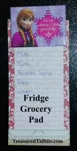 Fridge Grocery List