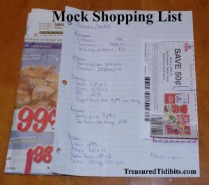 Mock Shopping List