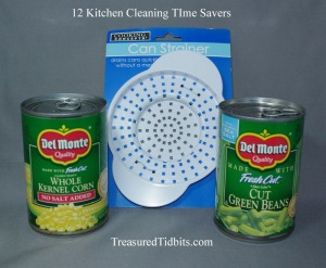 Use a can strainer 12 Kitchen Cleaning TIme Savers