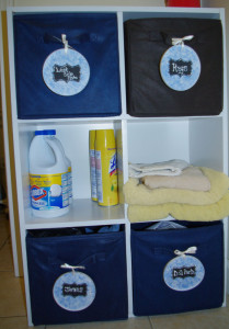 Folding Shelf and Organizer for Laundry Room