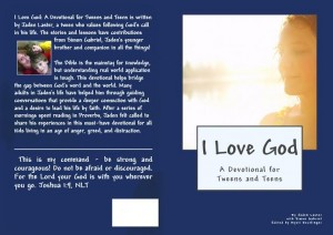I love God Devotional Book Cover