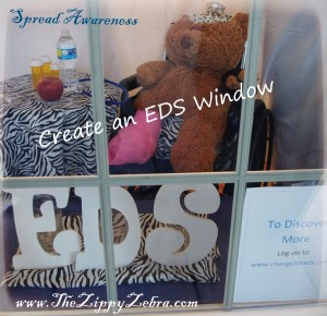 EDS Awareness Bear Window