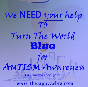 Autism Awarenss TUrn the World Blue