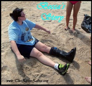 Becca's Story Boots in the Sand