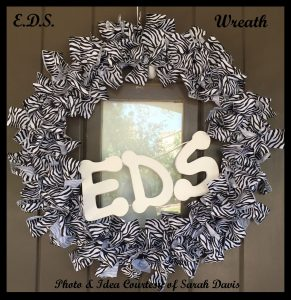 DIY EDS Awareness Wreath Courtesy of Sarah Davis