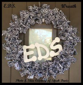 DIY EDS Awareness Wreath Courtesy of Sarah Davis