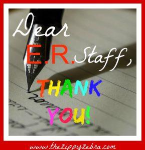 Dear E.R. Staff Square